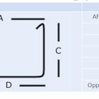 Mini bakgoot S-lon technische tekening afmetingen