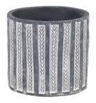 Siena Washed Cylinder Grey D11H10cm