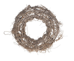 Root wreath raw 39x15cm White-wash