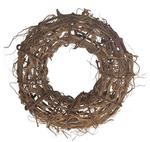 Root wreath raw 39x15cm Natural
