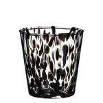Ø14,5 h.14,5cm glasspot w. black spots