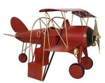 Metal airplane with stairs red 298x277x161.5cm