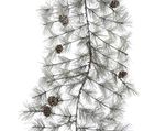 Frosted garland pinecones green 10x30x270cm
