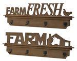 firwood coat rack text 2ass brown 8x84x27cm