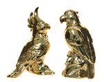 porc parrot on branch 2ass gold 9x10x17cm 7.5x8x16.5cm