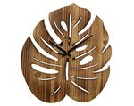 MDF clock monstera natural 35x39.5x4cm