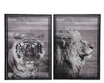 canvas painting in frame 2ass black 50x70x4cm