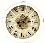 Clock Gear Ø60cm Ant. White