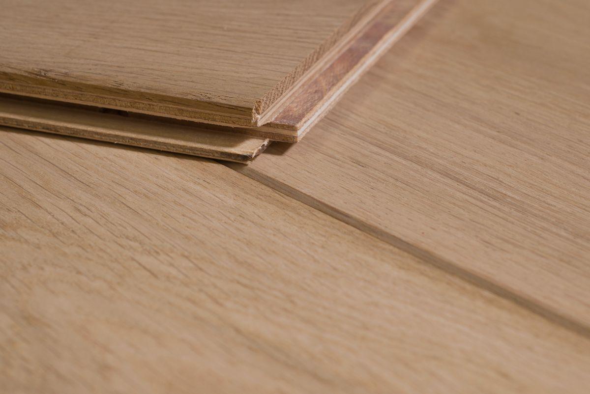 Eiken houten lamel parket vloer onbehandeld cm eik