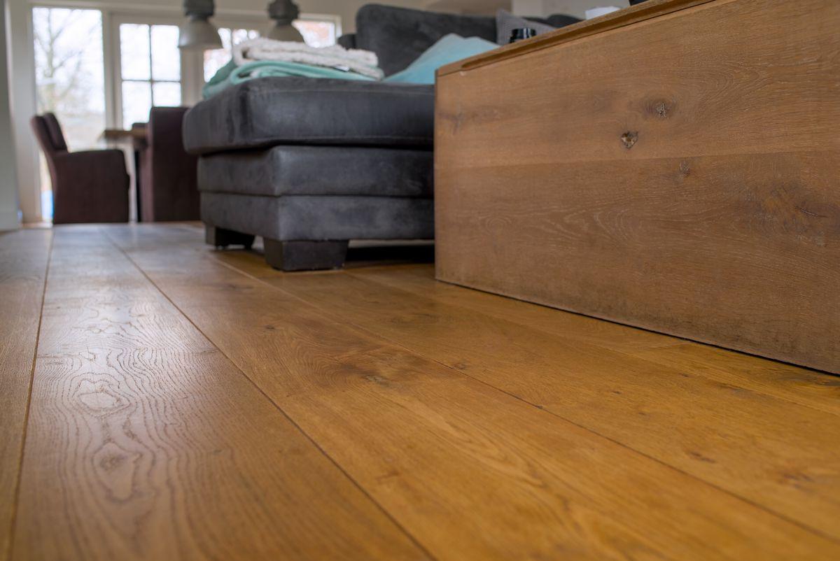 Eiken lamel parket houten vloer enkel gerookt geolied eik