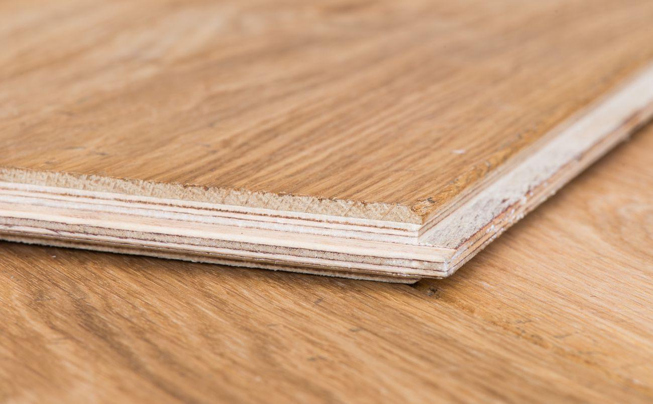 Eiken houten parket vloer verouderd geolied gebruikt lamel