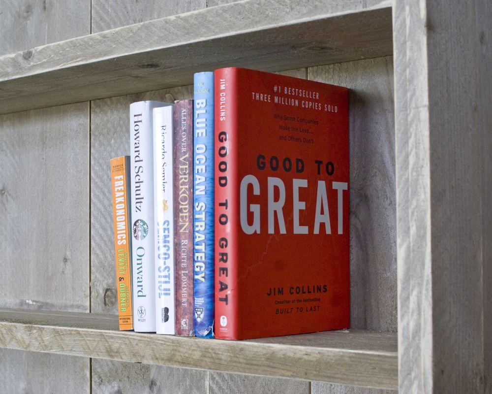 boekenkast steigerhout 180 cm hoog