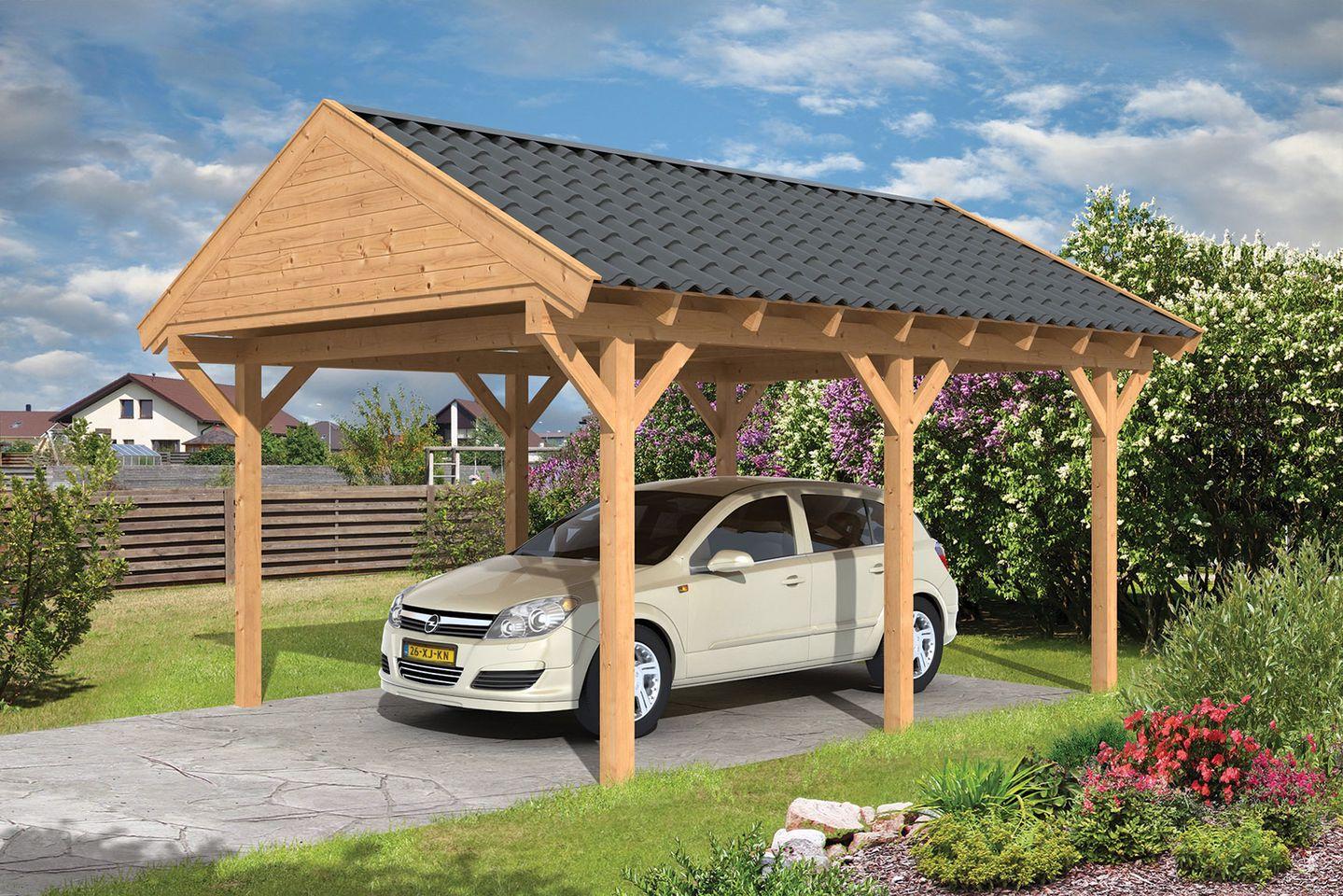 carport lariks douglas hout