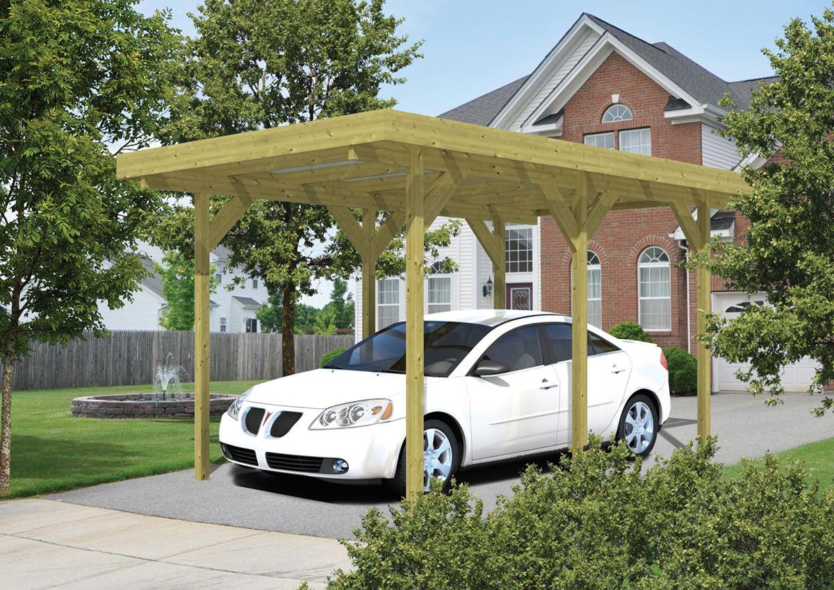 houten carport enkel