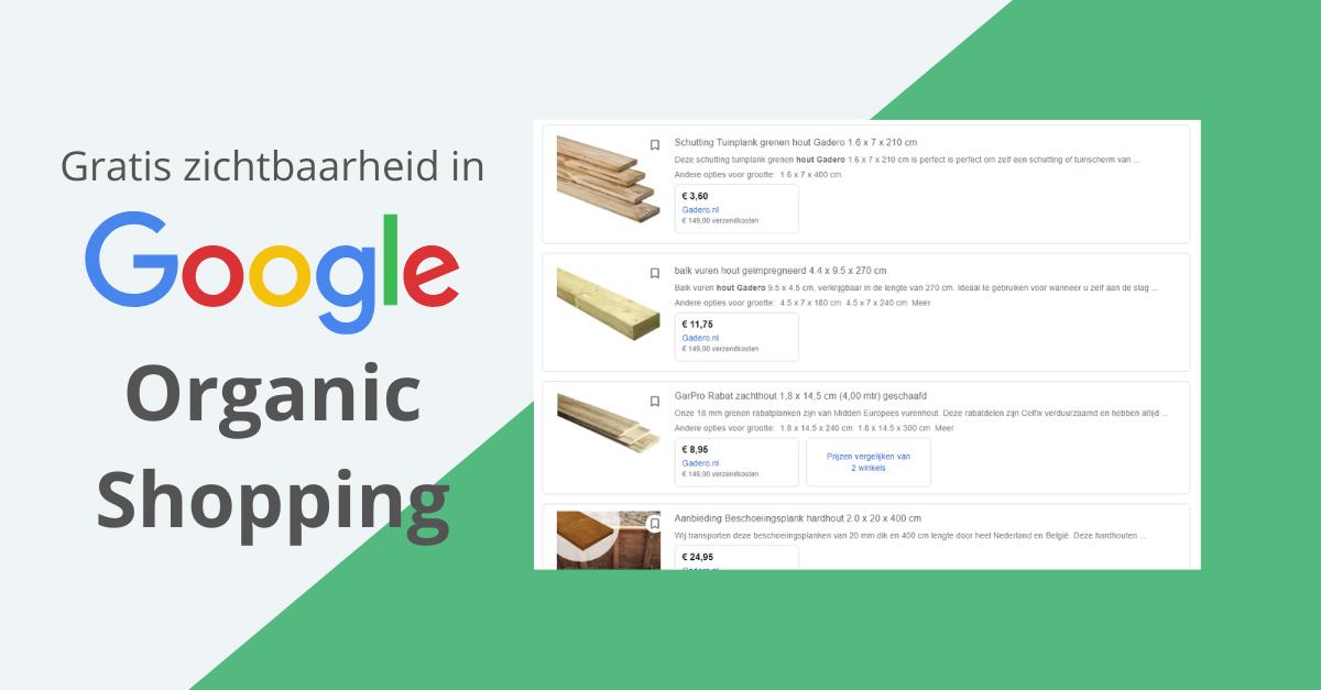 Google organic shopping