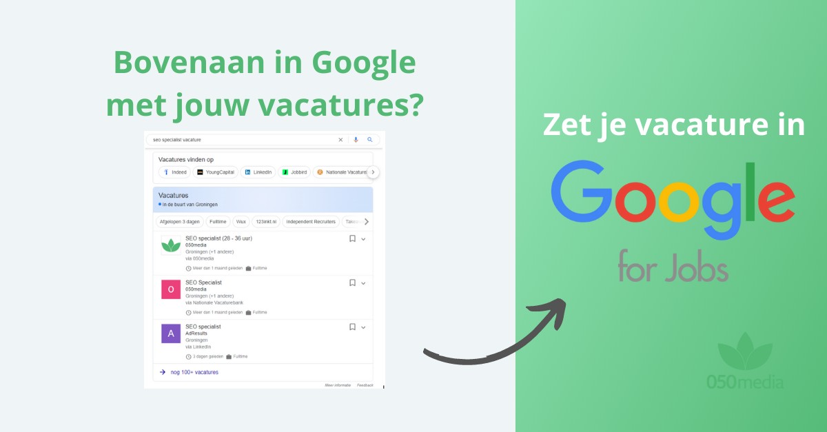 google for jobs toevoegen