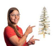 Bestel uw houten kerstboom