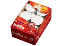 Bolsius maxi theelichten 10 uren wit - 18 stuks