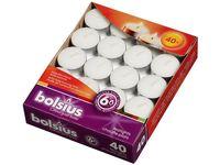 Bolsius theelichten 6 uren wit - 40 stuks