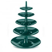Koziol etagère Babell Big emerald groen - 5 laags