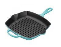 Le Creuset grillpan vierkant caraïbisch blauw 26 x 26 cm