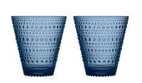 Iittala Kastehelmi glas 30cl regenblauw - 2 stuks