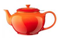 Le Creuset theepot oranje-rood 1.3 liter
