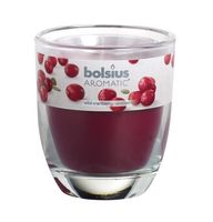 Bolsius geurkaars in glas Aromatic Wild Cranberry 80/70 mm