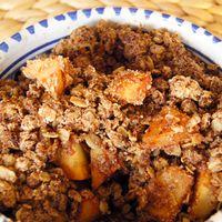 Glutenvrije apple crumble