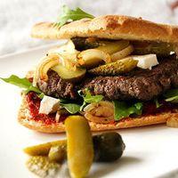 Hamburgers met focaccia