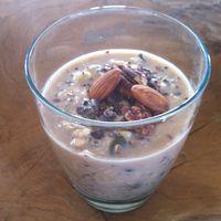 Overnight oats met chia zaden