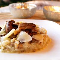 Risotto met paddenstoelen en pecorino
