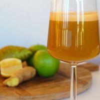 Slowjuice recept met wortel, gember en citroen