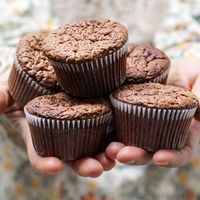 Chocolade muffins met banaan