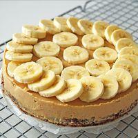 Glutenvrije taart met banaan en kokos
