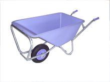 paarse kruiwagen 1 wiel