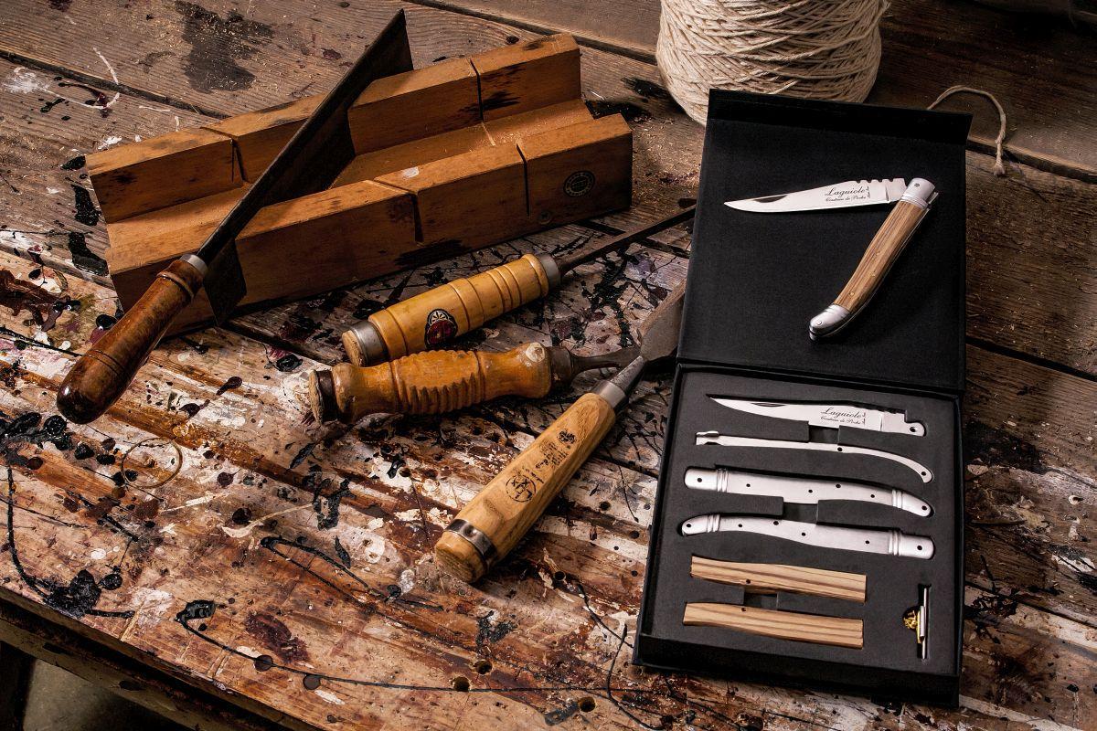 Rosenholz mit Geschenkbox Laguiole Style de Vie Taschenmesser