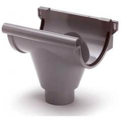 S-lon grijs PVC gootuitloop klem