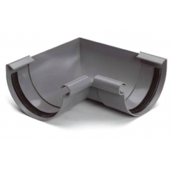 S-lon grijs PVC binnenhoekstuk klem
