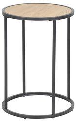 sabro-rond-bijzettafel-40-cm-wild-eiken-zwart-frame-1
