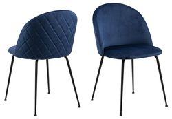 frifelt-eetstoel-blauw-velours-stof-ruitpatroon-1