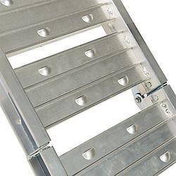 Aluminium oprijplaat - opvouwbaar - 182 cm rijgoot oprijhelling rijplaat 2