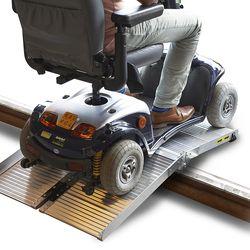 Oprijplaat scootmobiel rolstoel opvouwbaar aluminium rijgoot drempelhelling 4