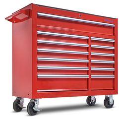 Gereedschapswagen met 13 laden - rood 3