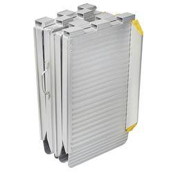 Oprijplaat inklapbaar - 120 cm rijplaat oprijgoot aluminium  5