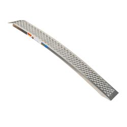 Aluminium oprijplaat - gebogen 150 cm oprijgoot rijplank plaat 2