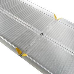 Oprijplaat aluminium - inklapbaar - 240 cm oprijgoot rijplaat 4