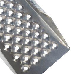 Aluminium oprijplaat met opstaande rand - 200 cm - 2 stuks 2