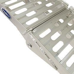 Extra verstevigde aluminium oprijplaat opklapbaar - 225 cm - 2 stuks 4