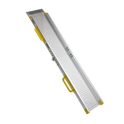 Aluminium oprijplaat inklapbaar - 120 cm rijplaat rijgoot oprijhelling 3